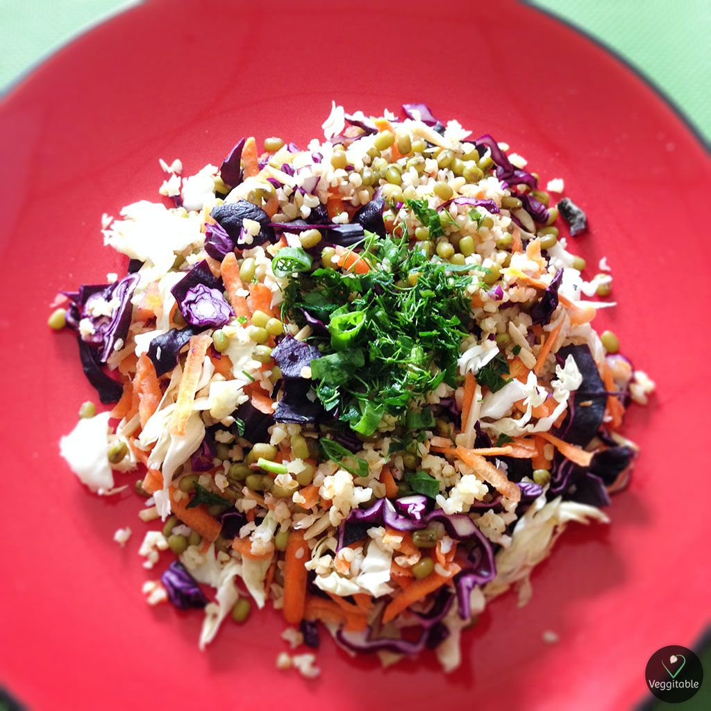 Salada de Bulgur com Feijão Mungo