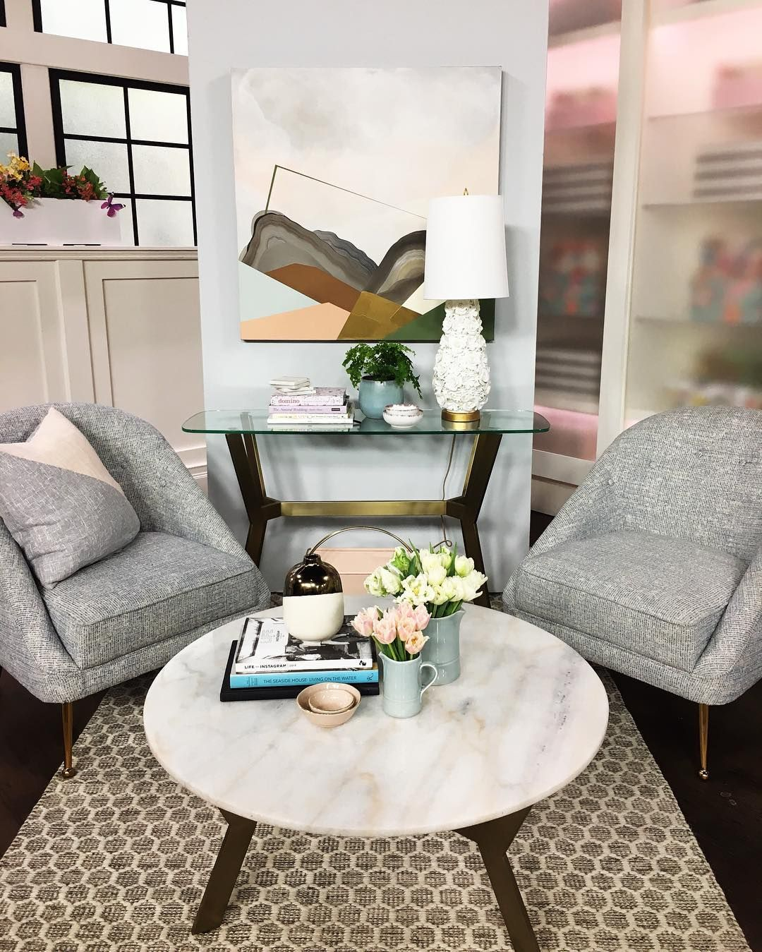 Samantha Pynn On Instagram Had So Much Fun On The Themarilyndenisshow Today Swipe To See More Spring Decor Living Room Art Affordable Artwork Interior Art