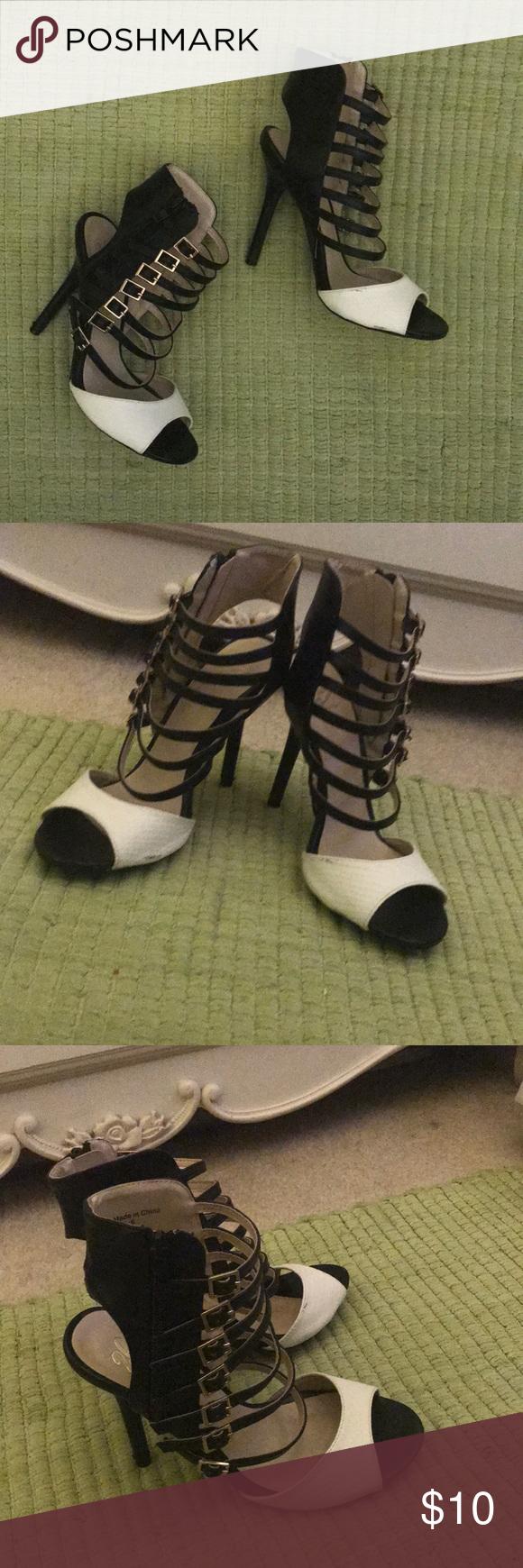 d0ba9d1263a Bebe 2 b strappy high heels. Bebe brand 2 b strappy