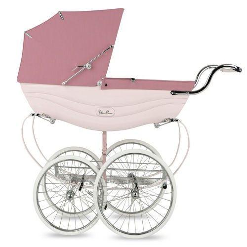 Silver Cross Balmoral Pram - Pink – Posh Baby Strollers - Silver ...