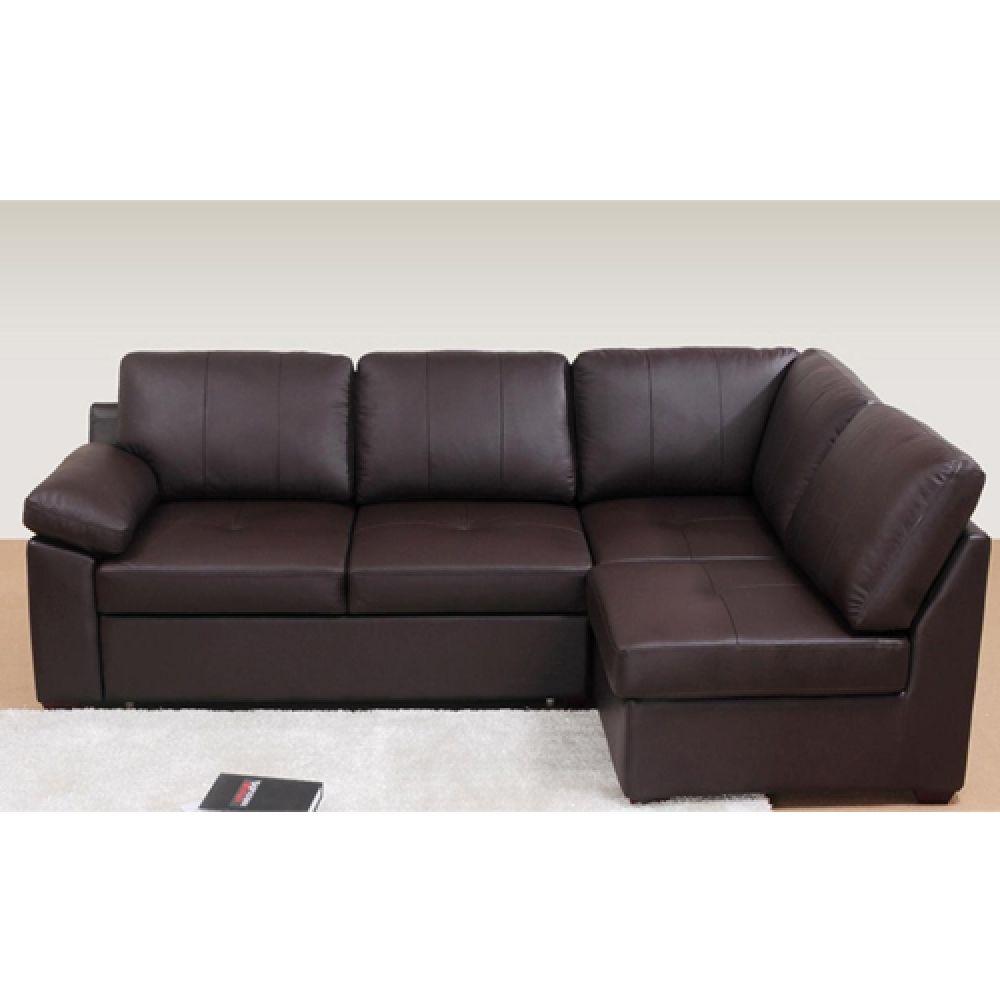 Brown Leather Corner Sofa Bed Hamilton Leather Corner Sofa Bed In