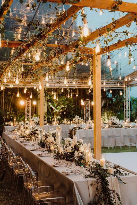 Iluminación exterior para bodas – arquitectura