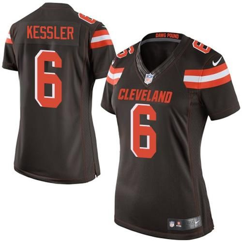 ... australia nike browns 6 cody kessler brown team color womens stitched  nfl new elite jersey and ... 747206fec