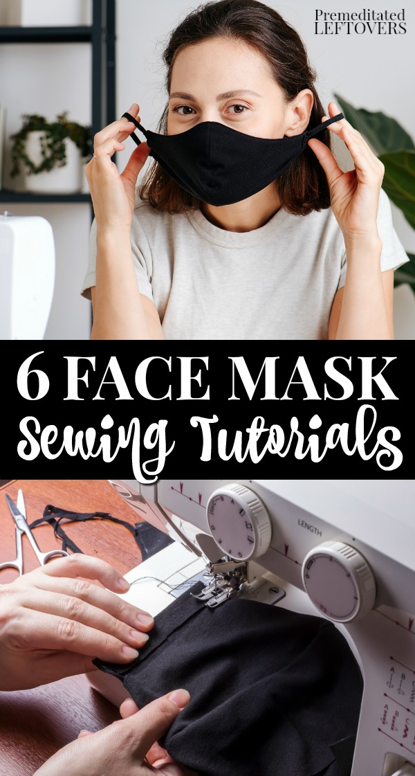 Photo of 6 Face Mask Sewing Patterns and 6 DIY No-Sew Mask Tutorials