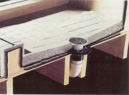 shower stall ceramic tile | Concrete shower, Concrete ...