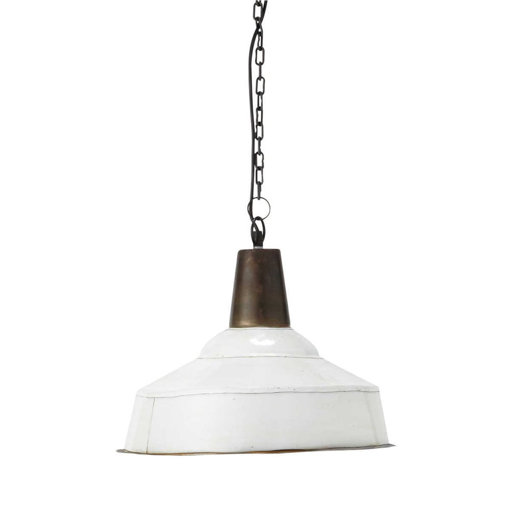 Suspension Blanche Suspension En Métal Blanche D 43 Cm Pendant Lamps And Kitchens