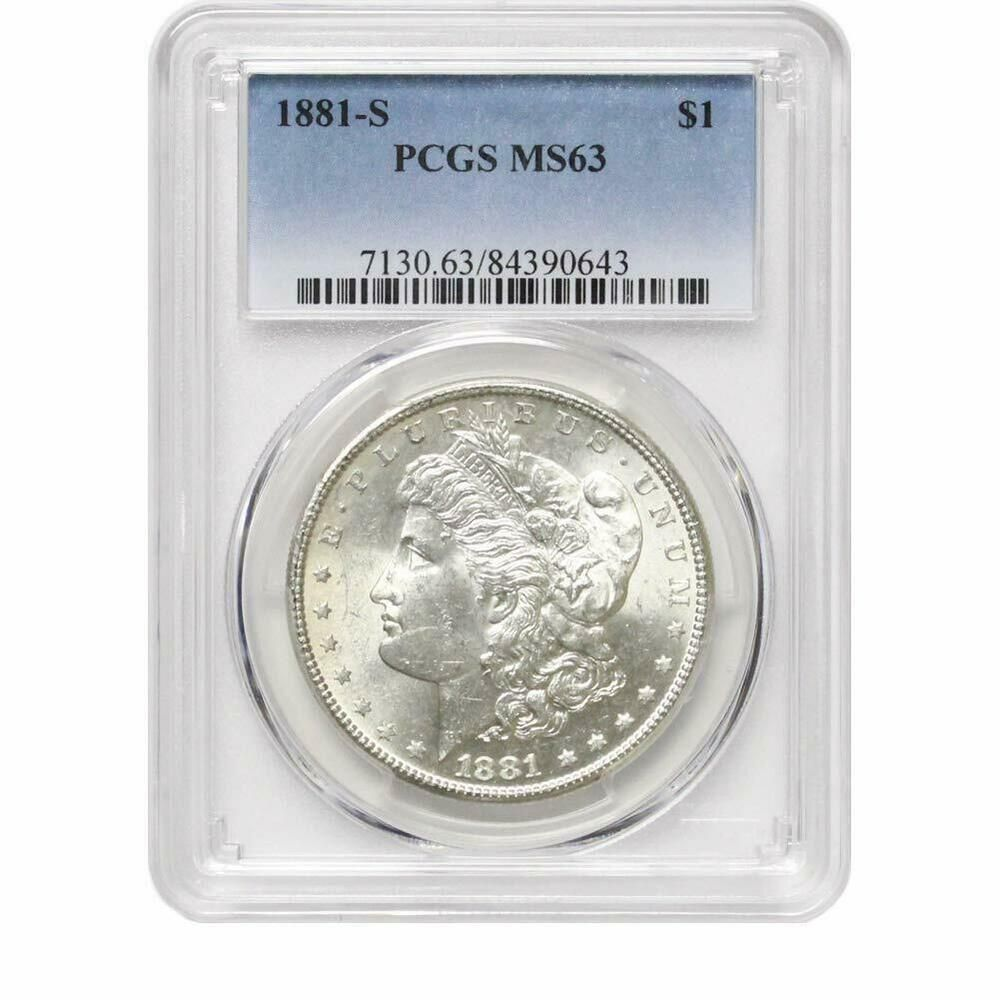 PCGS MS63 1921 US Morgan Silver Dollar $1