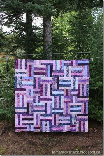 Jelly Roll Quilt Patronen.Pop 2 Jelly Roll Quilt Q Paars Quiltkunst Quilts En