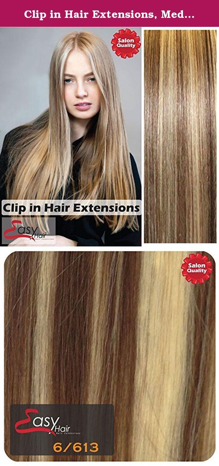 Clip In Hair Extensions Medium Brownblonde6613 Full Head High