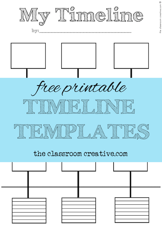 image relating to Printable Timelines identified as absolutely free printable timeline templates
