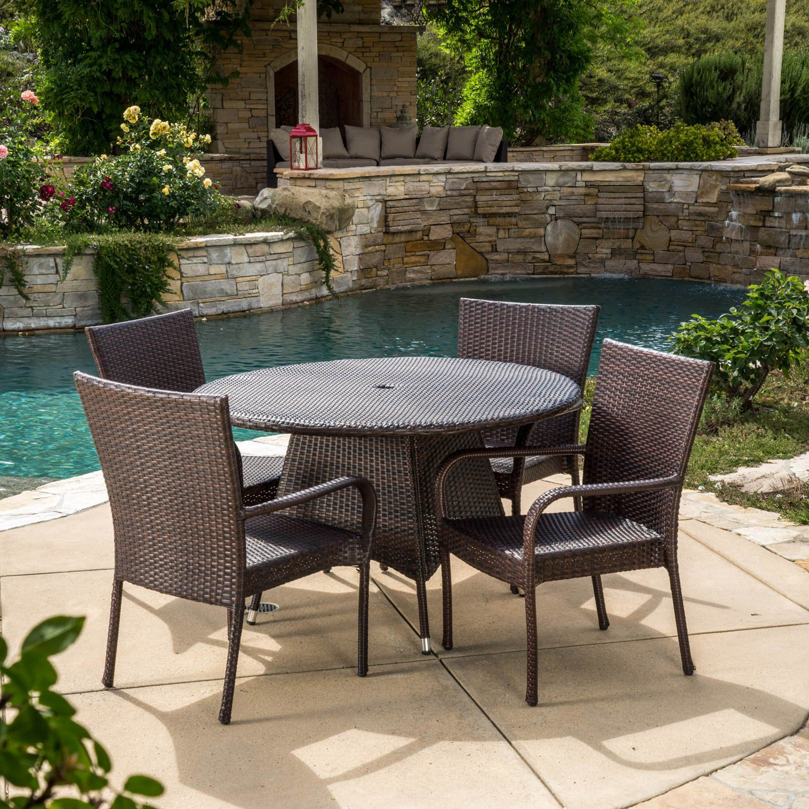 Outdoor Best Selling Home Decor Furniture Potter Wicker 5 Piece