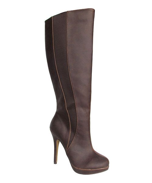 Brown Hadiya Wide-Calf Boot | Something special every day