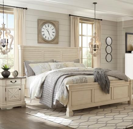 Best B647Kpbbedroomset 2 Piece Bedroom Set With California King Size Panel Bed Nightstand In 640 x 480