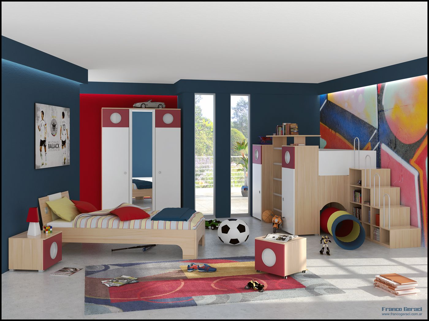 adorable kids room designs which present a modern and trendy decor