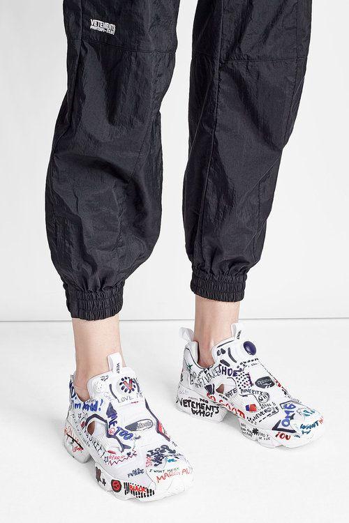 9adb2d341de1 Vetements X Reebok Graffiti Instapump Fury Sneakers