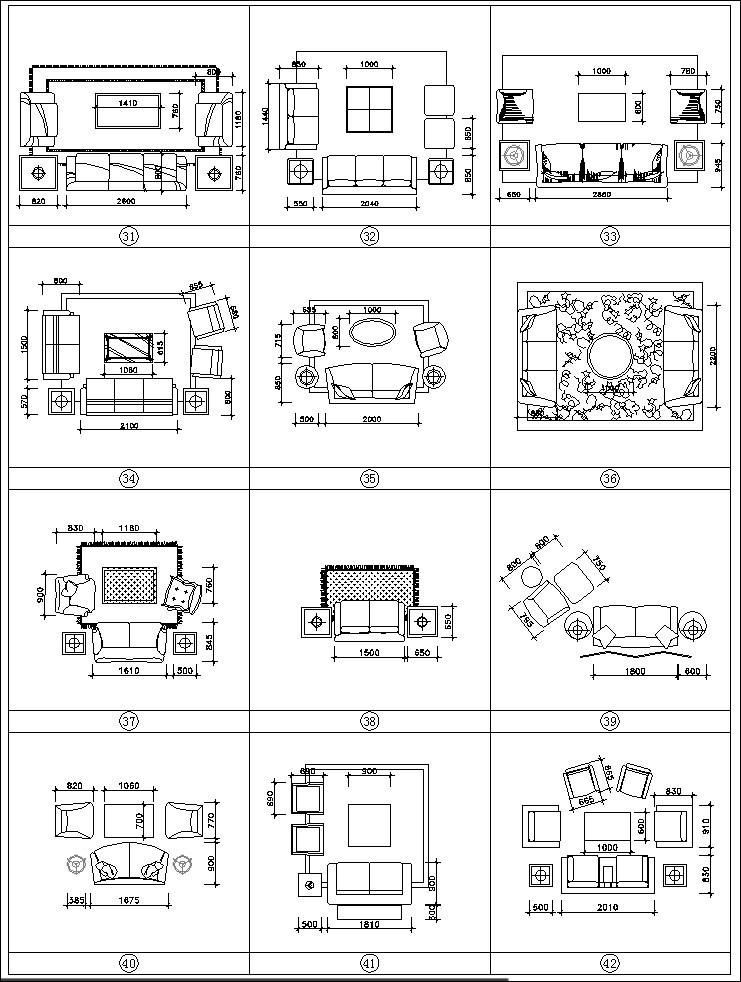 sofa cad blocks set – cad design   free cad blocks,drawings,details