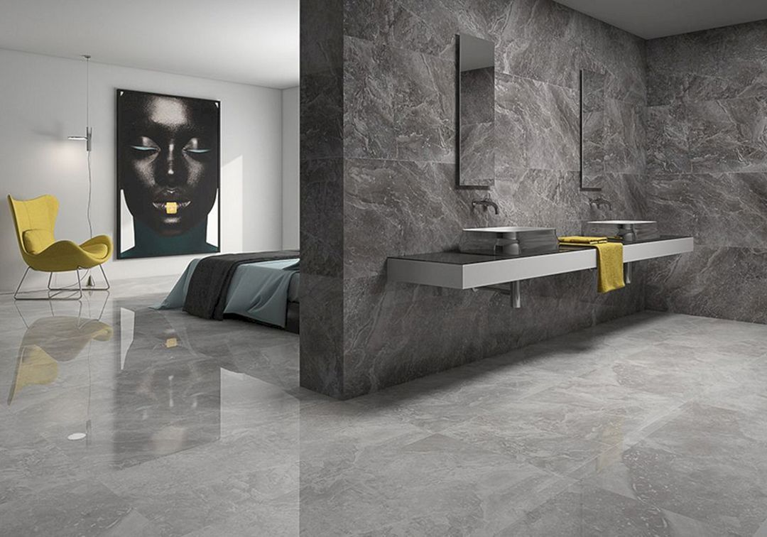 12 Incredible Wall Ceramics Natural Stone Design That Will Bring Natural Impressions To Your Home Freshouz Com Living Room Tiles Tile Floor Living Room Grey Marble Floor