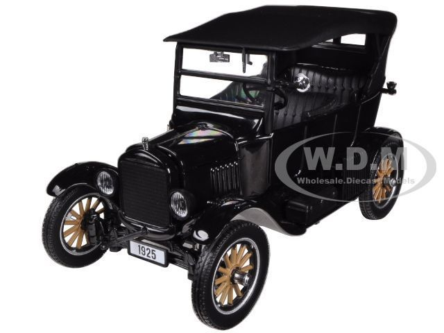 1925 Ford Model T Touring Black 1 24 Diecast Car Model By Sunstar
