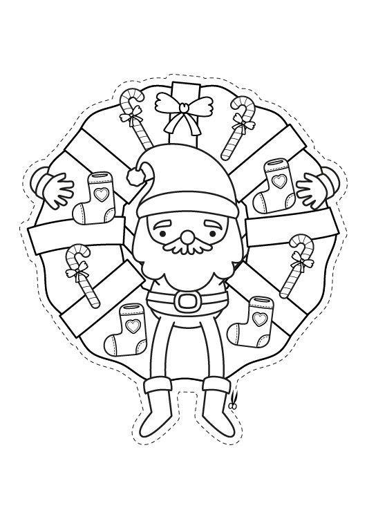 Corona de Navidad: dibujo para colorear e imprimir | navidad ...