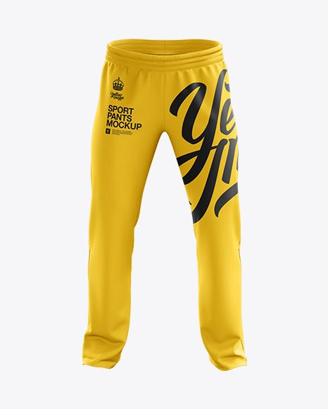 Download Sport Pants Mockup Front View In Apparel Mockups On Yellow Images Object Mockups Clothing Mockup Sport Pants Design Mockup Free