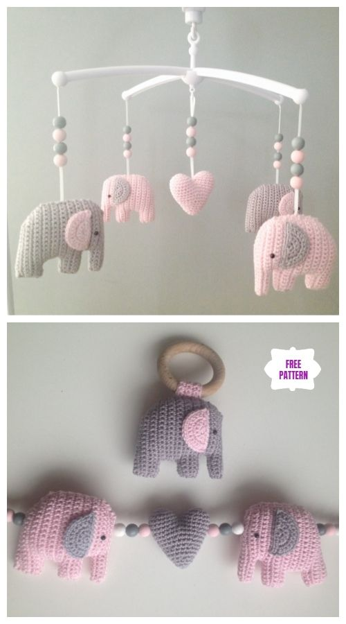 Crochet Elephant Amigurumi Free Pattern with Video #crochetelephantpattern