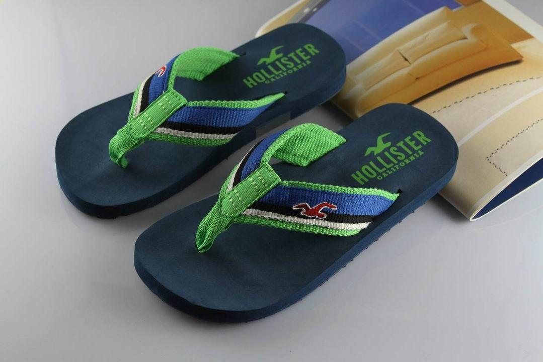 Délicat Hollister Flip Flops De SoCal Marine Vert