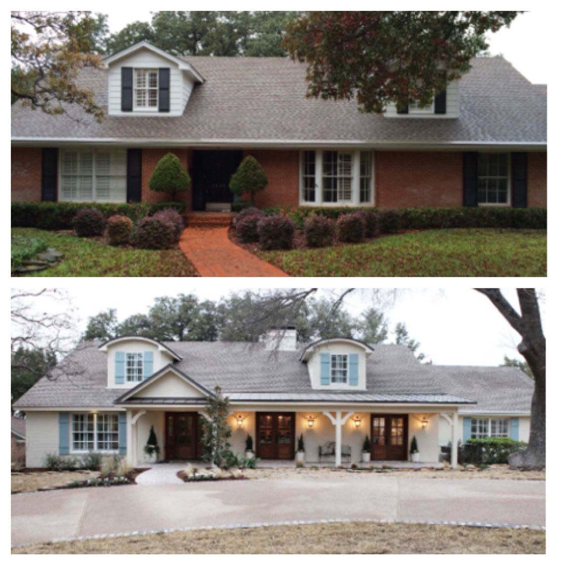 Home exterior renovation before and after best 25 exterior for Exterior home renovations