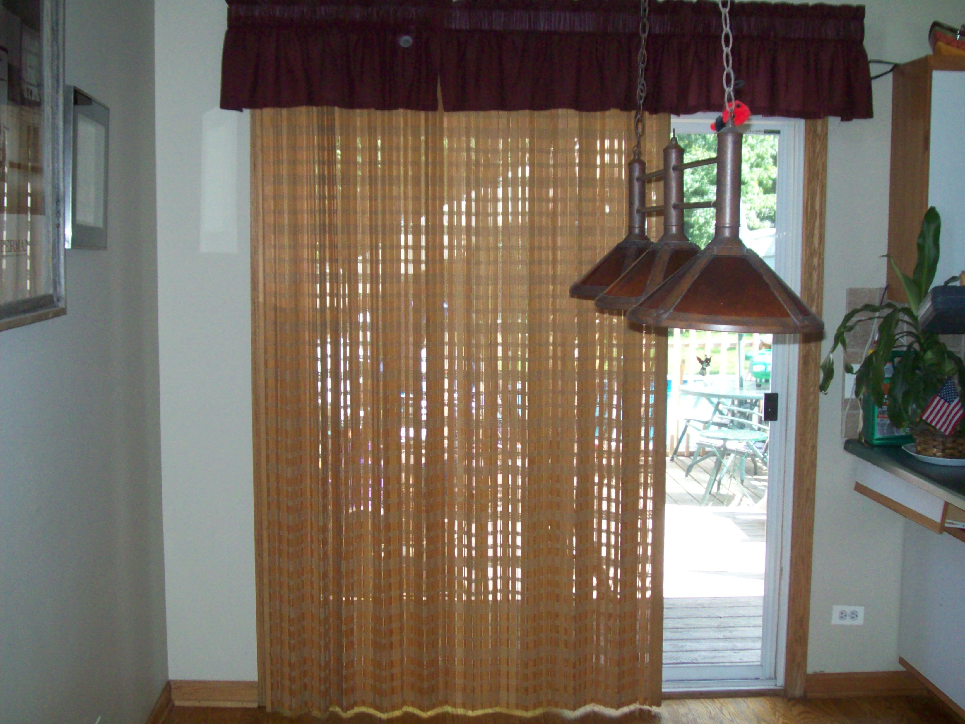 window treatments with cornices for sliding glass doors