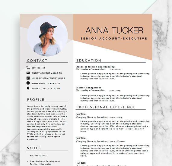 modern resume template    cv template