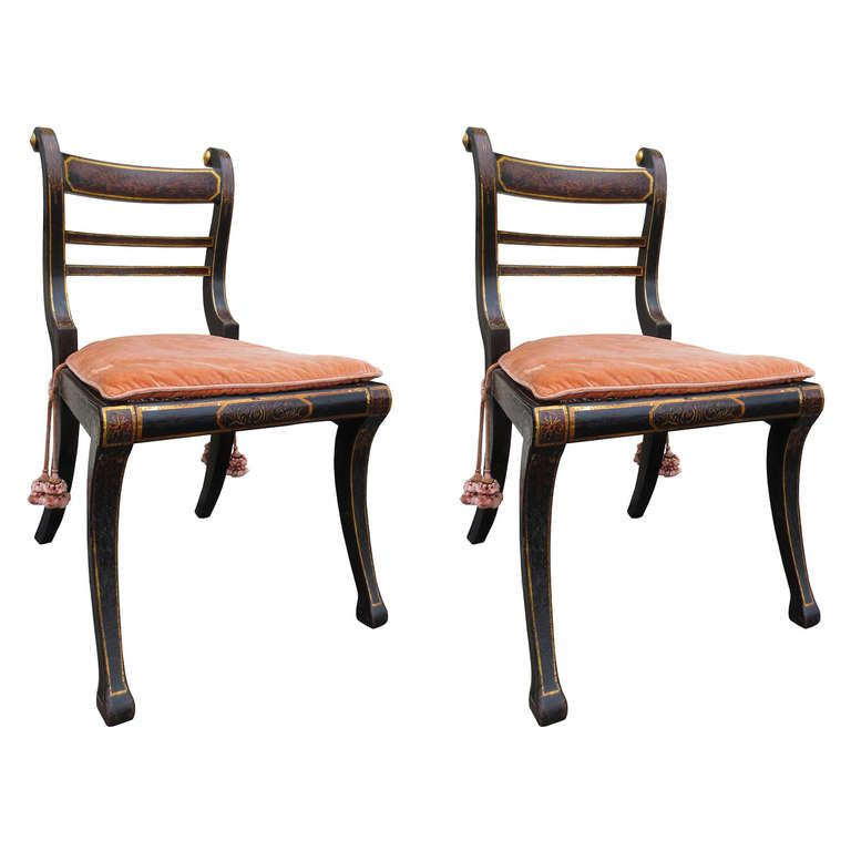 Pair Of 18thc English Regency Chairs, C.1820 | From A Unique Collection Of  Antique And Modern Chairs At Http://www.1stdibs.com/furniture/seating/chairs /