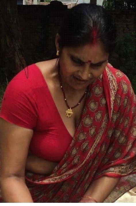 Indian blouse boobs press