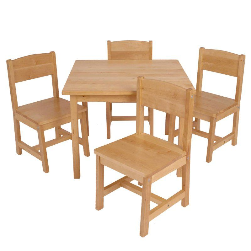 Outdoor Kidkraft Farmhouse Table And 4 Chair Set 21421 Kids