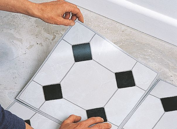 How To Lay Vinyl Floor Tiles B Q For All Your Home And Garden Supplies And Advice On All The La Self Adhesive Vinyl Tiles Vinyl Flooring Adhesive Floor Tiles