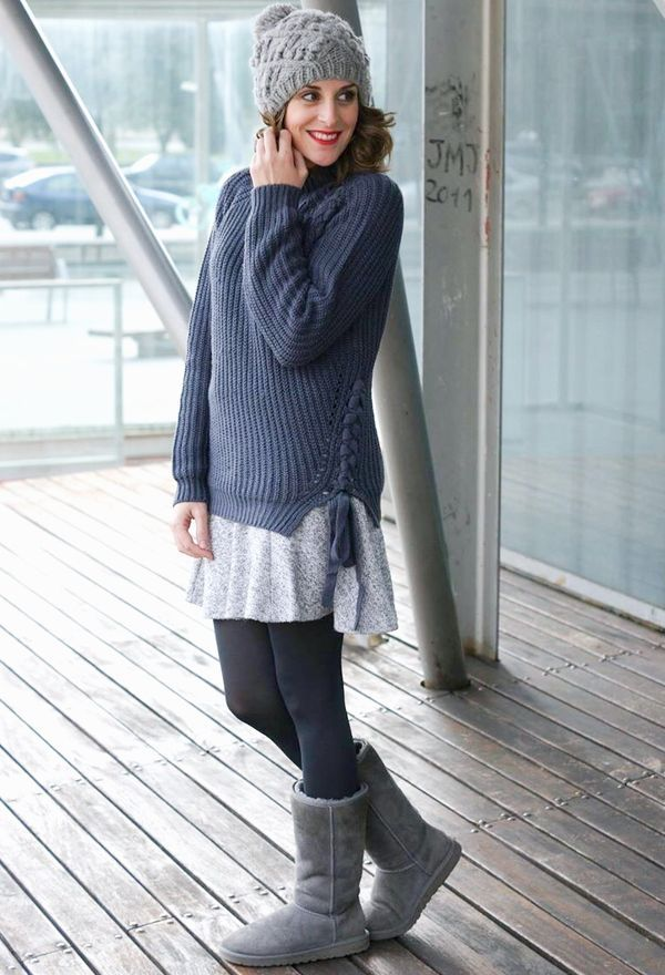 original sueter gris mujer outfit 8