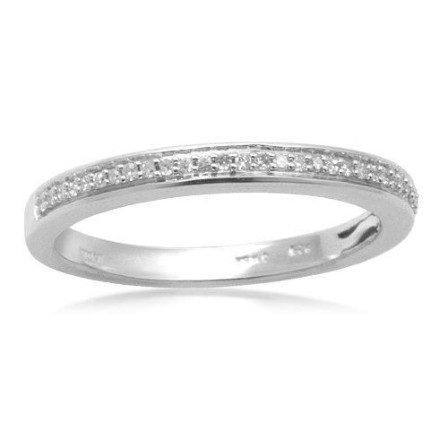 Best 6: Sterling Silver Pave Diamond Wedding Anniversary Ring (0.05 cttw, I-J Color, I3 Clarity) elegant jewelry reviews