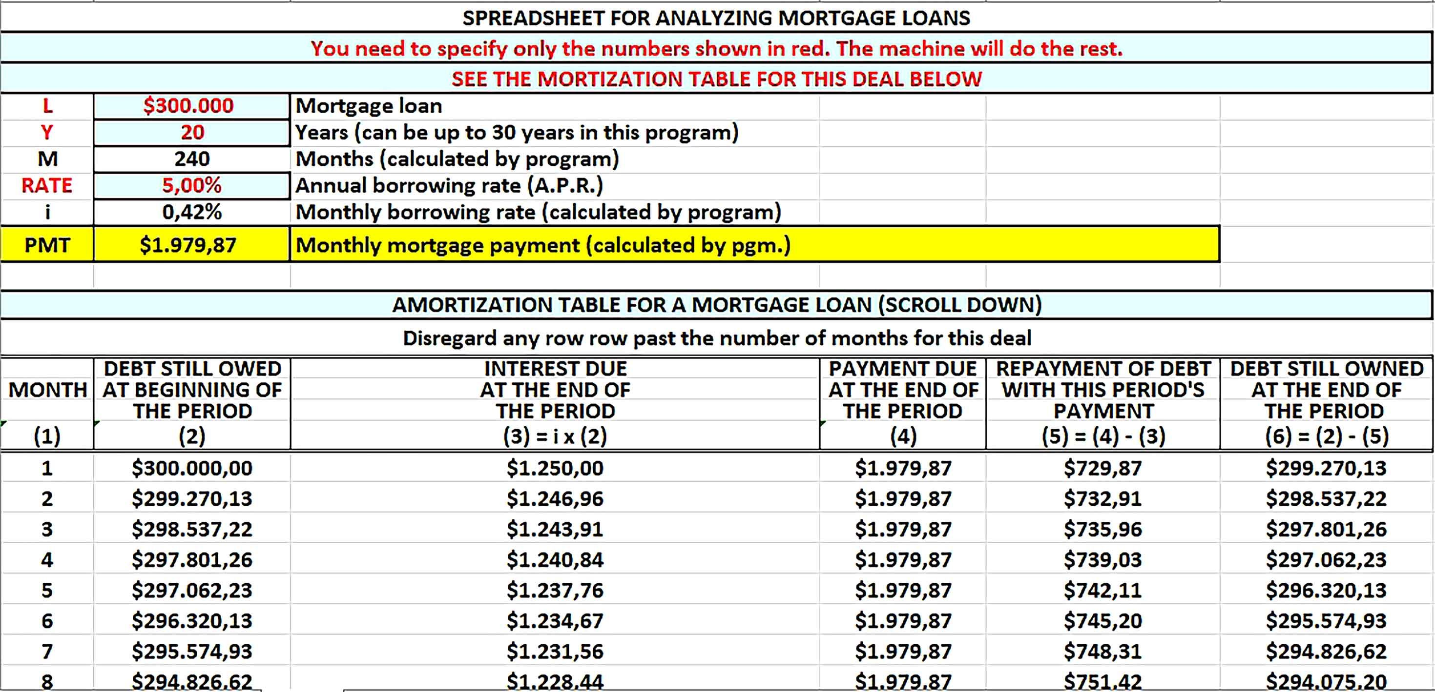 Loan Amortization Schedule Sample Amortization Schedule Schedule Template Loan 20 year amortization schedule excel