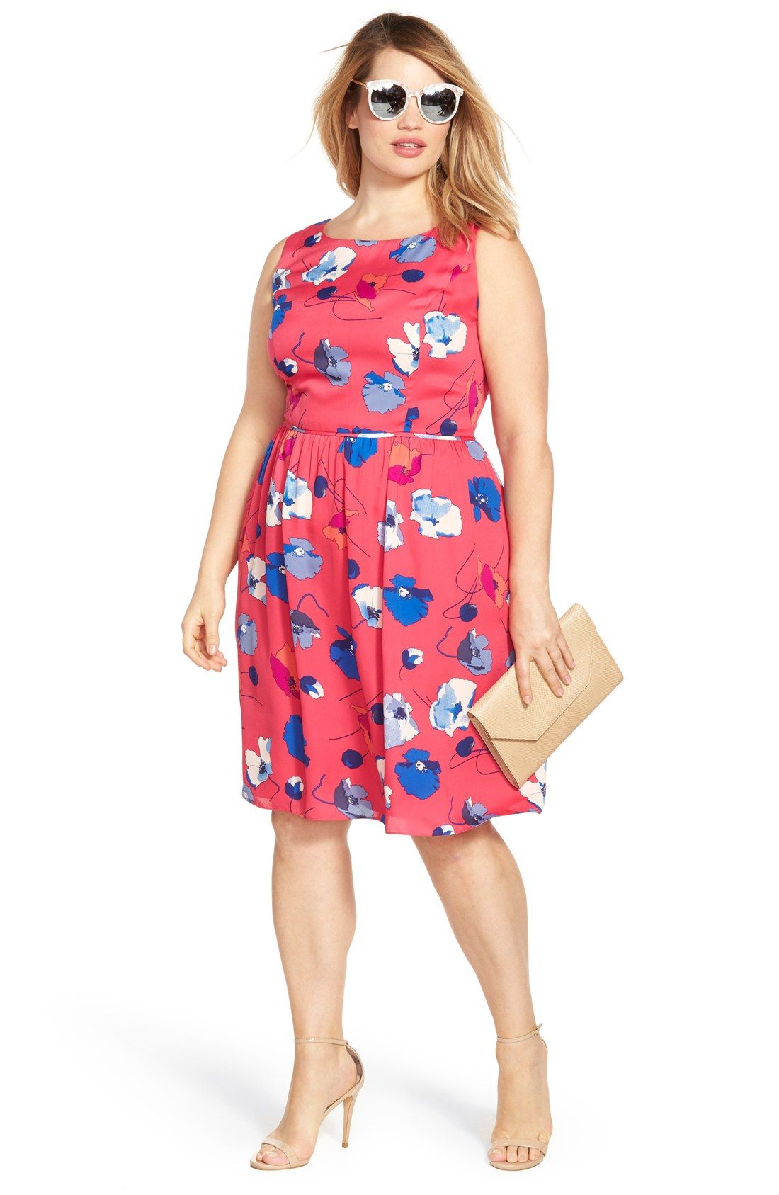 Adrianna Papell Print Dress & Accessories (Plus Size)