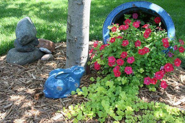 Wie man einen verschütteten Blumentopf macht | Topfgarten ...