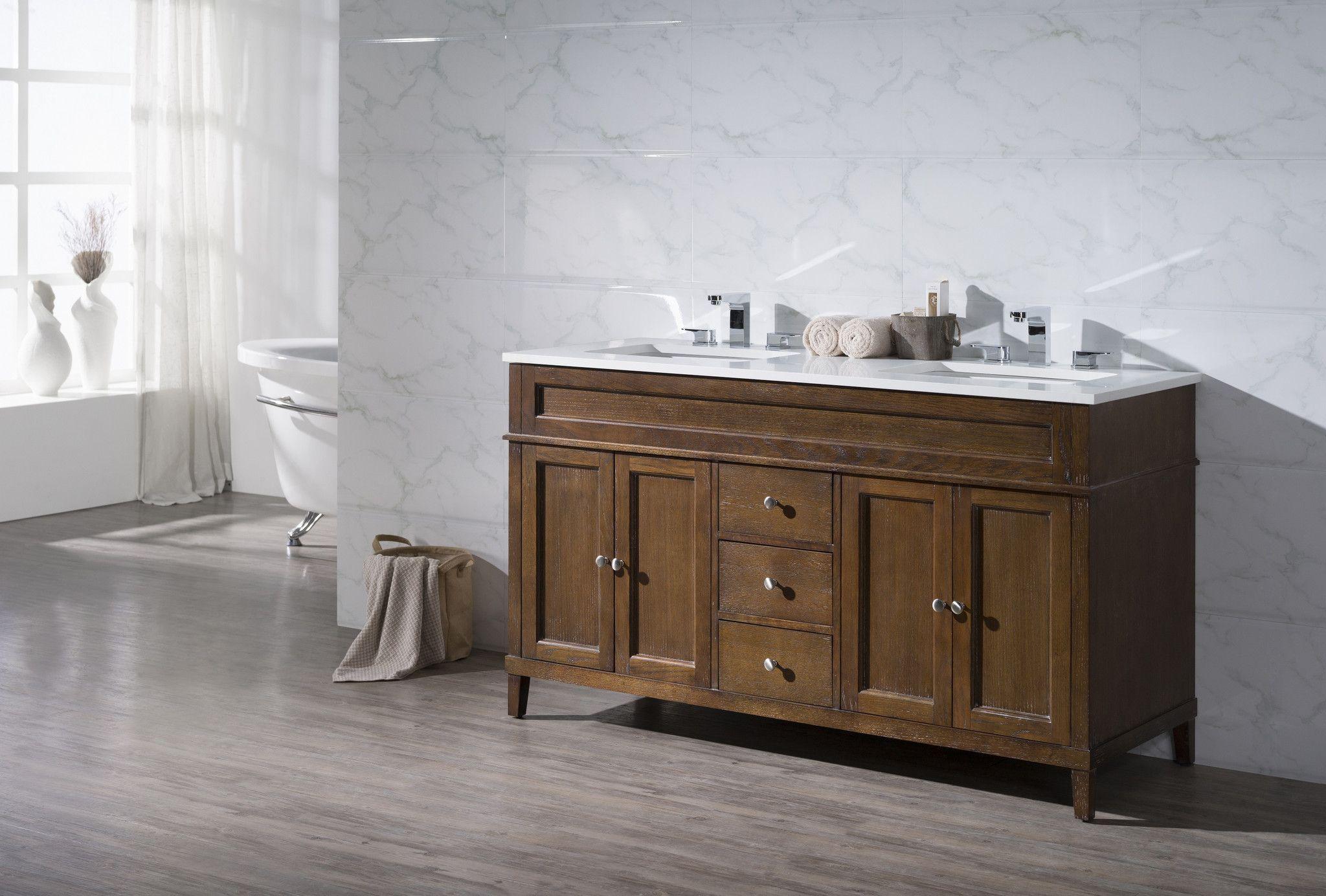 Hamilton 59 Inch Double Sink Bathroom Vanity Inexpensive