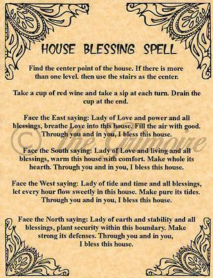 House Blessing Spell | Witchy | Witch spell, Wiccan spells
