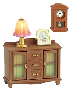 Sylvanian Families Calico Critters Living Room Lamp Stand U0026 Shelf Set