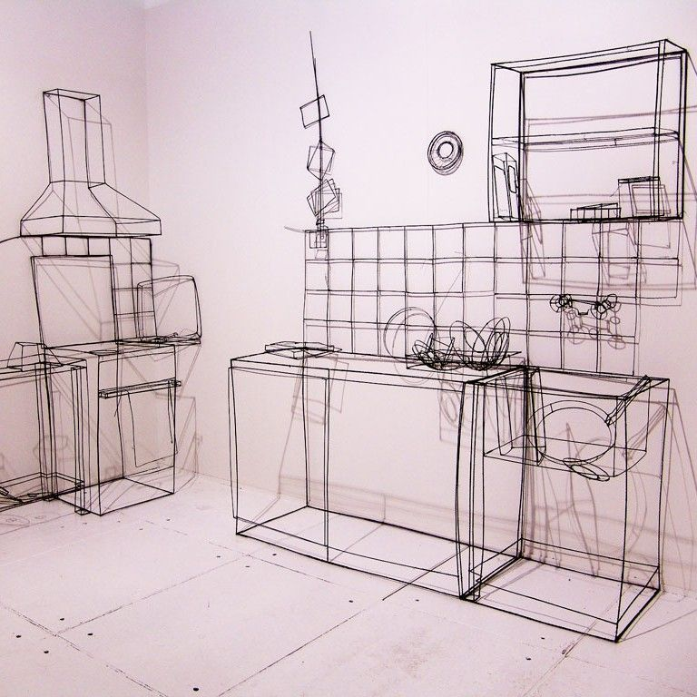 3D wire sculptures by fritz panzer | 3d and Artwork