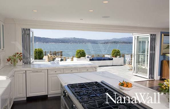 nana wall | Remodel | Indoor outdoor kitchen, Glass wall