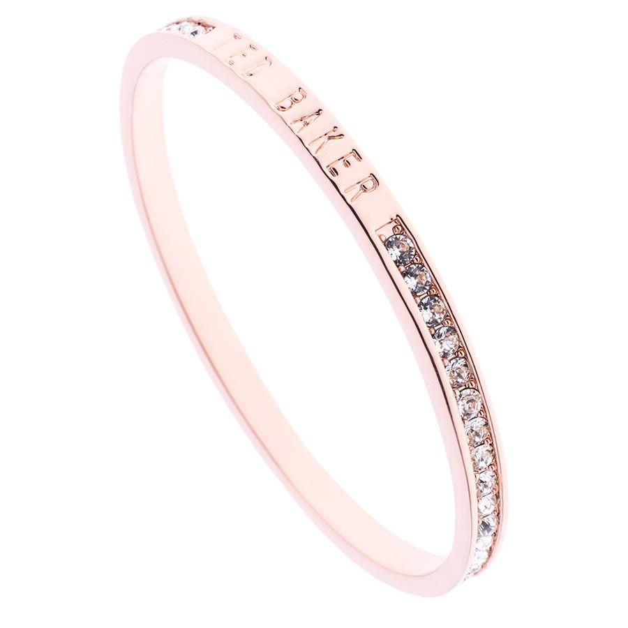 best sale first rate later Ted Baker Clem Crystal Rose Gold Bangle | Ted baker bracelet, Ted ...