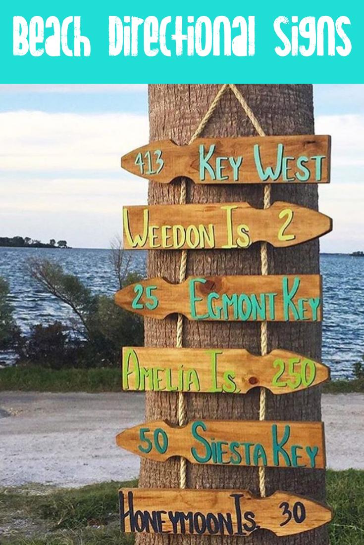 Handmade Personnalisé rustique en bois Island beach Seaside vacances Signe Plaque