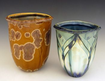 Square Flambeaux Vases by Bill Campbell Studios | Sticks Furniture, Home Decorative Accents