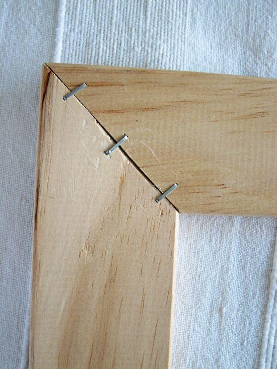DIY stretcher frame | Crafty Tips | Pinterest | Crafty and Fabrics