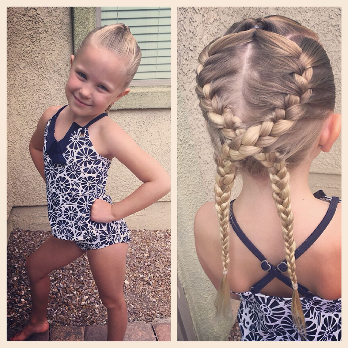 Swim Hairstyle For Little Girls Swimming Hairstyles Up Hairstyles Hair Styles