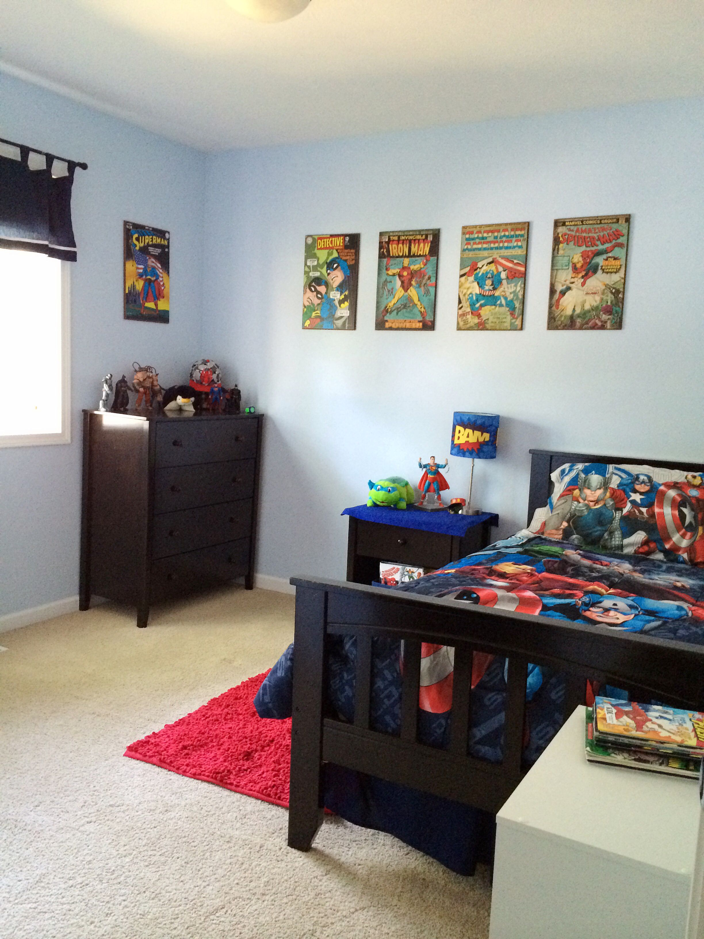 Superhero Room Design: Ethan's Redecorated Superhero Room. GW In 2019