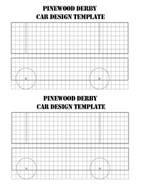 Pinewood Derby Car Blank Grid Sheets Three Rivers District